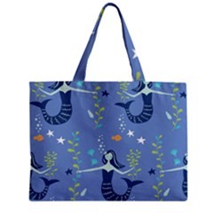 Little Mermaid Star Fish Sea Water Zipper Mini Tote Bag by Jojostore