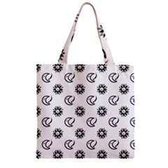 Month Moon Sun Star Zipper Grocery Tote Bag by Jojostore
