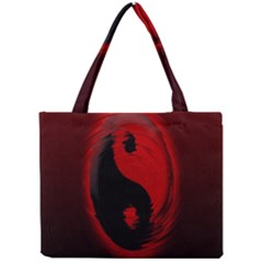Red Black Taichi Stance Sign Mini Tote Bag by Jojostore