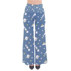 Space Saturn Star Moon Rocket Planet Meteor Pants by Jojostore