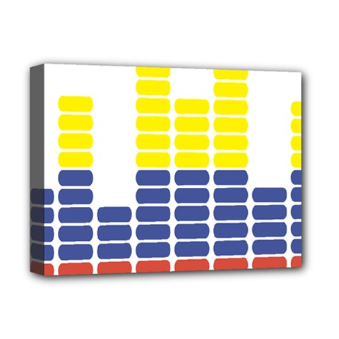 Volumbia Olume Circle Yellow Blue Red Deluxe Canvas 16  X 12
