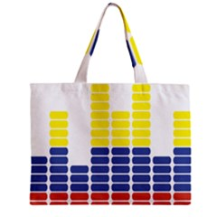 Volumbia Olume Circle Yellow Blue Red Zipper Mini Tote Bag by Jojostore