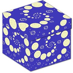 Vortical Universe Fractal Blue Storage Stool 12   by Jojostore