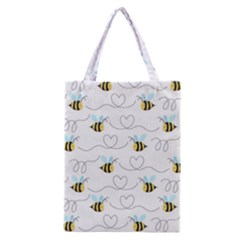 Wasp Bee Fly Yellow Black Blue Hanny Love Classic Tote Bag by Jojostore