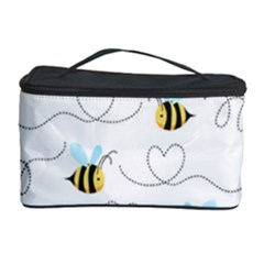 Wasp Bee Fly Yellow Black Blue Hanny Love Cosmetic Storage Case by Jojostore