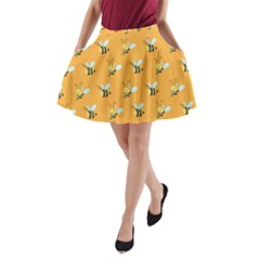 Wasp Bee Hanny Yellow Fly Animals A Line Pocket Skirt by Jojostore