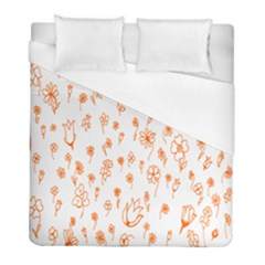 Flower Floral Tulip Orange Duvet Cover (full/ Double Size) by Jojostore