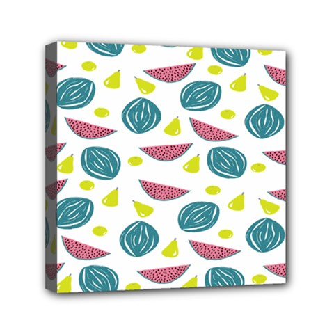 Summer Fruit Watermelon Water Guava Onions Mini Canvas 6  X 6