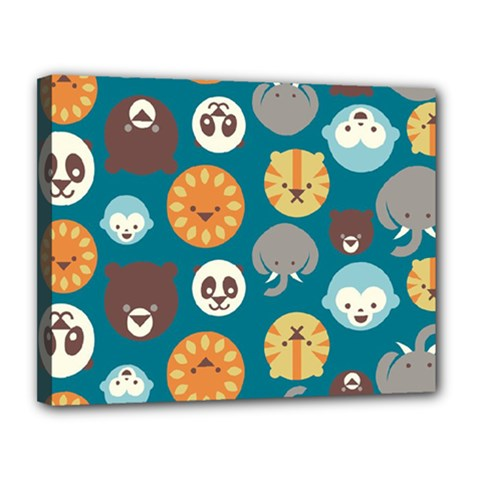Animal Pattern Canvas 14  X 11  by Nexatart