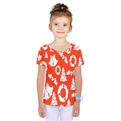Backdrop Background Card Christmas Kids  One Piece Tee by Nexatart