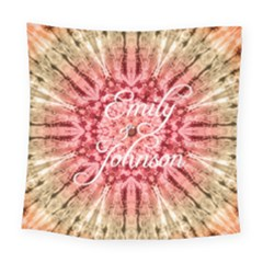 Red Tie Dye Square Tapestry (large) by strawberrymilkstore8
