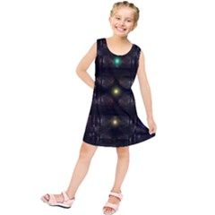 Abstract Sphere Box Space Hyper Kids  Tunic Dress by Nexatart