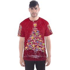 Colorful Christmas Tree Men s Sport Mesh Tee