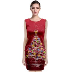 Colorful Christmas Tree Classic Sleeveless Midi Dress