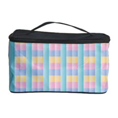 Grid Squares Texture Pattern Cosmetic Storage Case by Nexatart