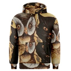 Owl And Black Cat Men s Pullover Hoodie
