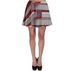 Red Sunglasses Art Abstract Skater Skirt