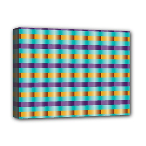 Pattern Grid Squares Texture Deluxe Canvas 16  X 12   by Nexatart