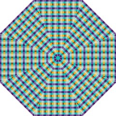 Pattern Grid Squares Texture Hook Handle Umbrellas (medium)