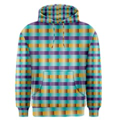 Pattern Grid Squares Texture Men s Pullover Hoodie