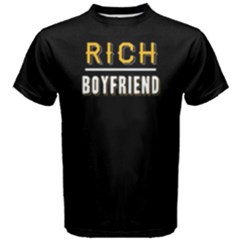 Rich boyfriend - Men s Cotton Tee by FunnySaying