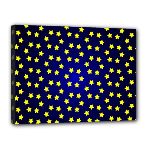 Star Christmas Yellow Canvas 16  X 12  by Nexatart