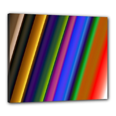 Strip Colorful Pipes Books Color Canvas 24  X 20  by Nexatart