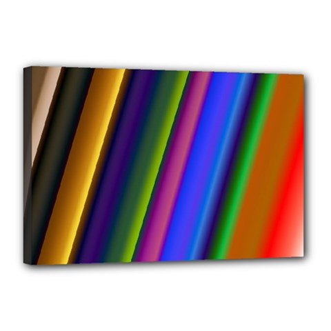 Strip Colorful Pipes Books Color Canvas 18  X 12  by Nexatart