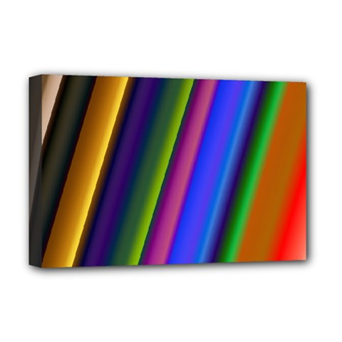 Strip Colorful Pipes Books Color Deluxe Canvas 18  X 12   by Nexatart