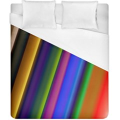 Strip Colorful Pipes Books Color Duvet Cover (california King Size) by Nexatart