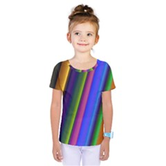 Strip Colorful Pipes Books Color Kids  One Piece Tee