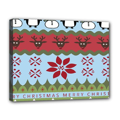 Ugly Christmas Xmas Canvas 14  X 11  by Nexatart