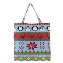 Ugly Christmas Xmas Grocery Tote Bag by Nexatart