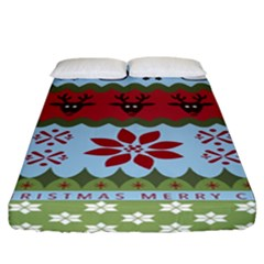 Ugly Christmas Xmas Fitted Sheet (california King Size)