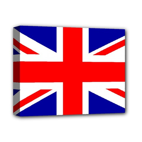 Union Jack Flag Deluxe Canvas 14  X 11