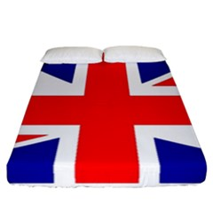 Union Jack Flag Fitted Sheet (california King Size) by Nexatart