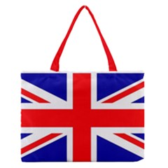 Union Jack Flag Medium Zipper Tote Bag by Nexatart
