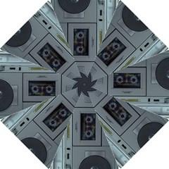 Vintage Tape Recorder Hook Handle Umbrellas (large) by Nexatart