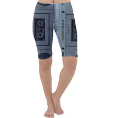 Vintage Tape Recorder Cropped Leggings
