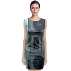 Vintage Tape Recorder Classic Sleeveless Midi Dress