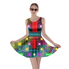 Art Rectangles Abstract Modern Art Skater Dress