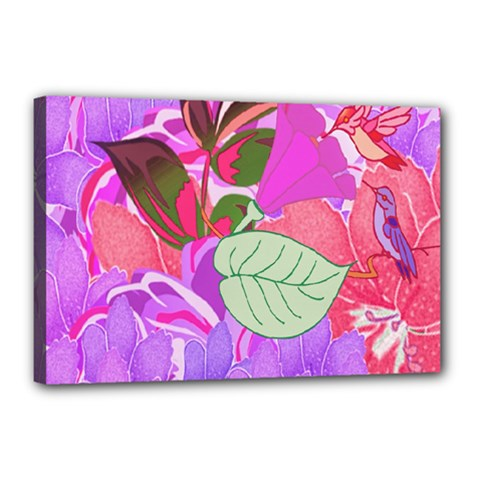Abstract Flowers Digital Art Canvas 18  X 12