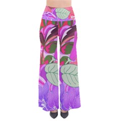 Abstract Flowers Digital Art Pants