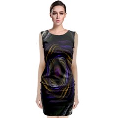 Abstract Fractal Art Classic Sleeveless Midi Dress
