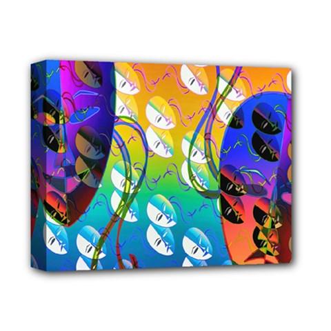 Abstract Mask Artwork Digital Art Deluxe Canvas 14  X 11  by Nexatart