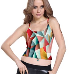 Abstracts Colour Spaghetti Strap Bra Top