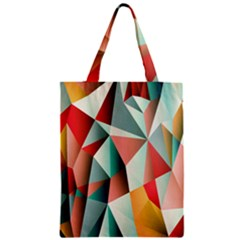 Abstracts Colour Zipper Classic Tote Bag