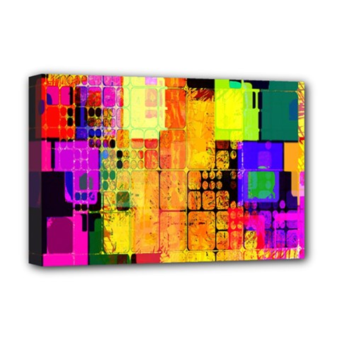 Abstract Squares Background Pattern Deluxe Canvas 18  X 12