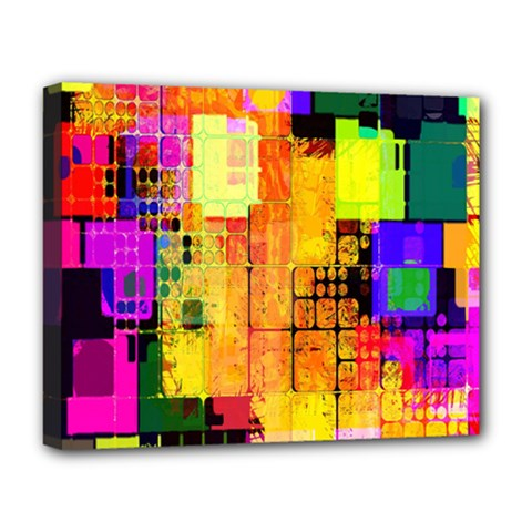 Abstract Squares Background Pattern Deluxe Canvas 20  X 16