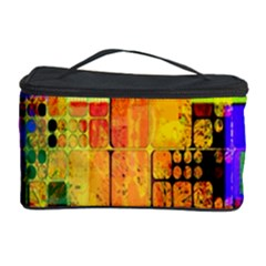 Abstract Squares Background Pattern Cosmetic Storage Case by Nexatart